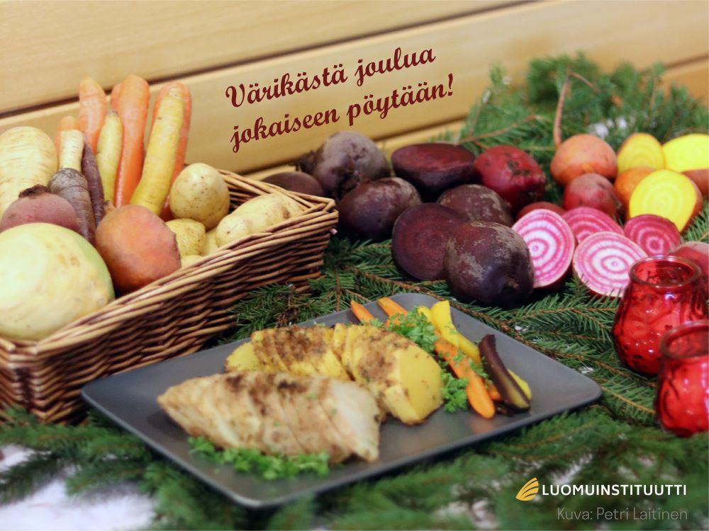 Luomuinstituutti toivoo värikästä joulua jokaiseen pöytään!